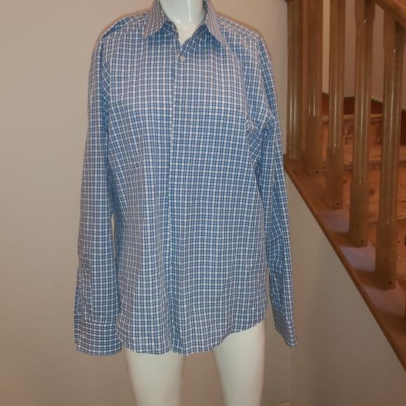 Hugo boss blue dress shirt